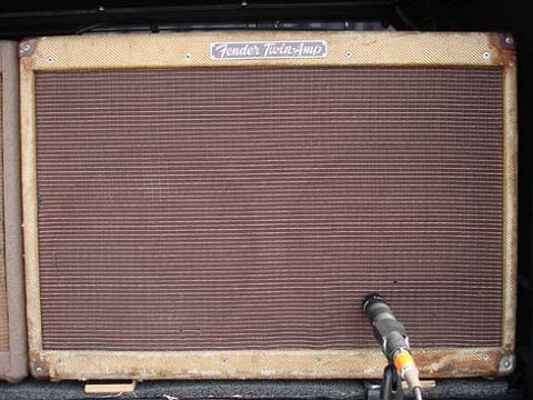 Keef's well-worn Fender Tweed Twin amp