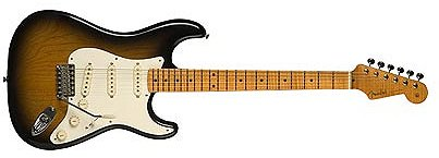 Stratocaster in two-tone sunburst