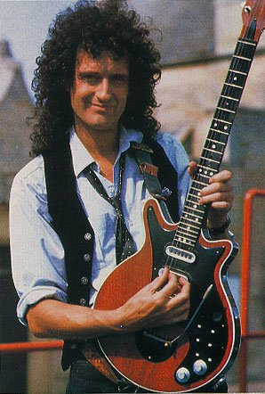 Brian May with his Red Special guitar